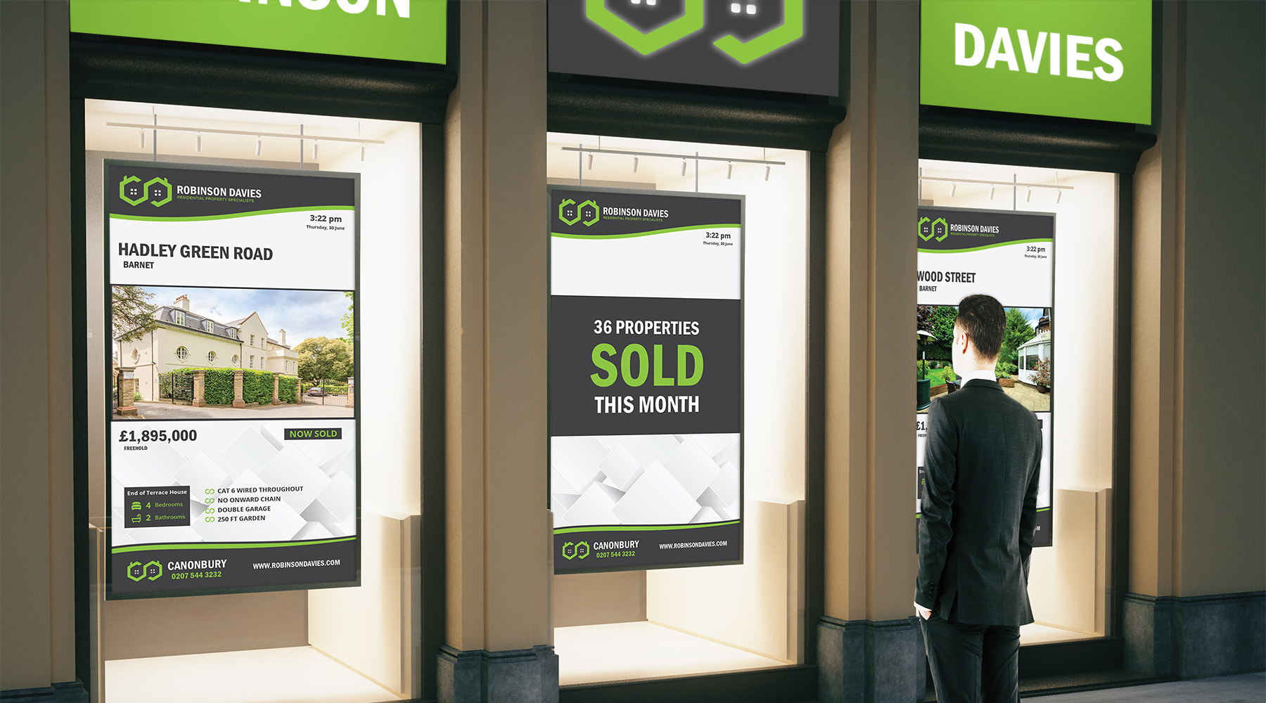 Estate agent digital signage