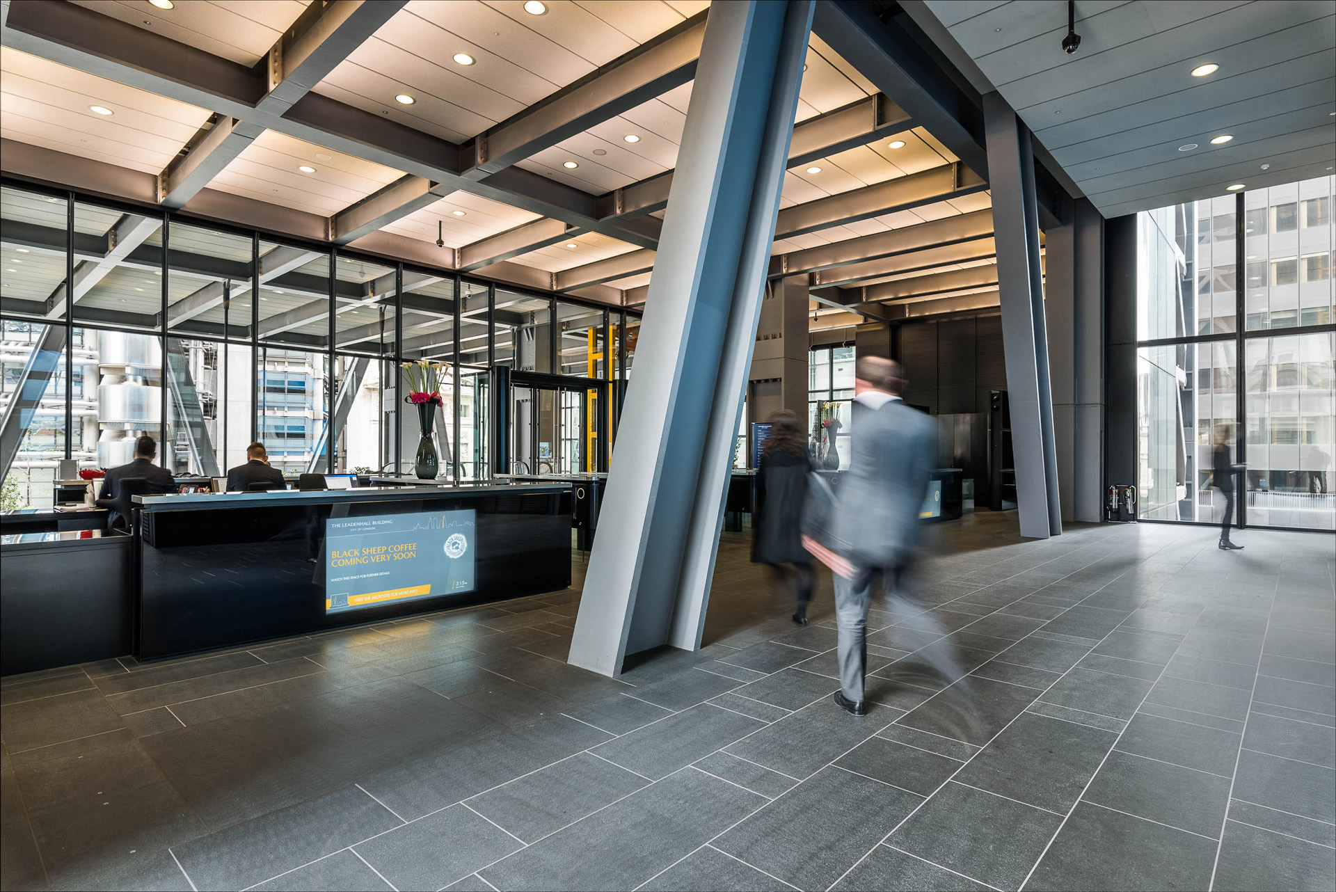 Digital signage for internal comms at The Leadenhall Building