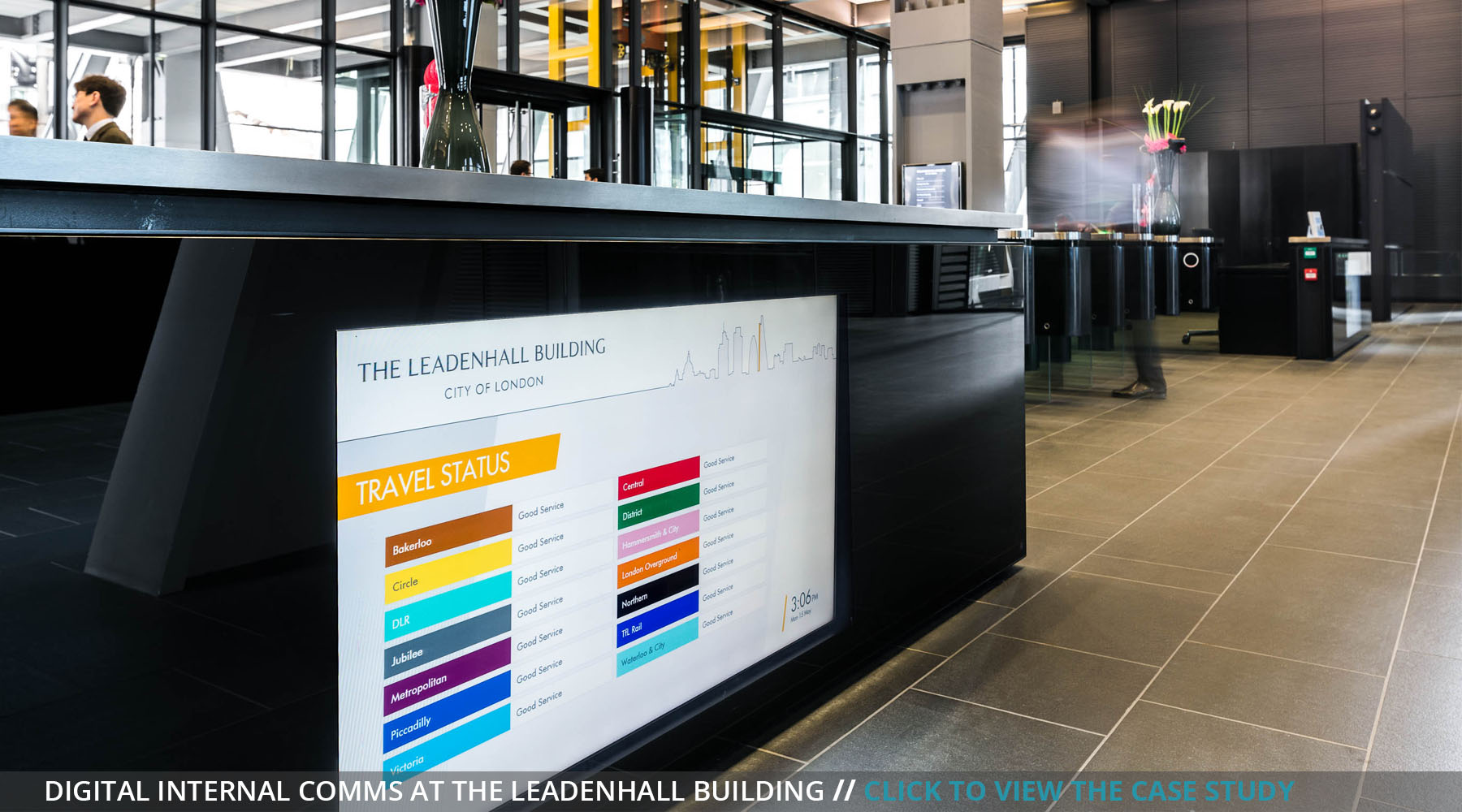 Digital signage internal communications live travel view case study